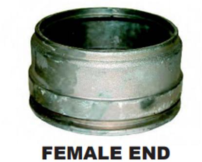 Bandlock Style Alum Weld Ends - Female